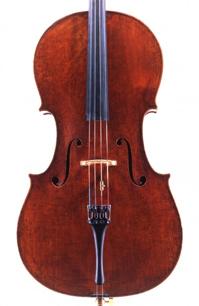 Francesco von Mendelssohn's cello, made in 1720 © photo: Stewart Pollens.